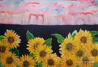 Flowers In A Sunshine Field Poster