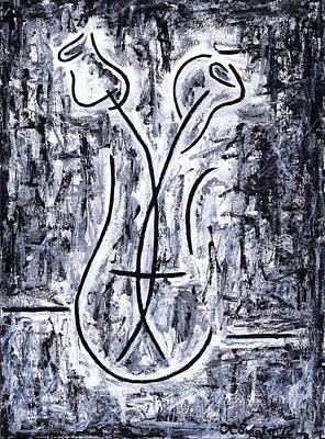Flowers In A Vase Poster by Kamil Swiatek