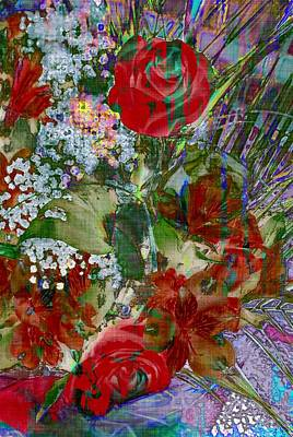 Poster featuring the digital art Flowers In Bloom by Liane Wright