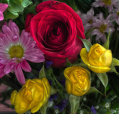 Flowers In Hdr Poster by Tom Climes