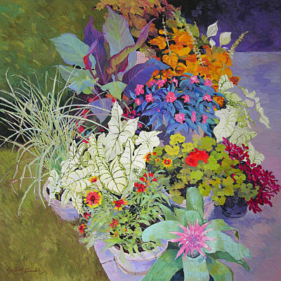 Flowers In The Courtyard Poster