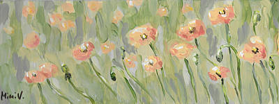 Poster featuring the painting California Poppies by Maria Langgle