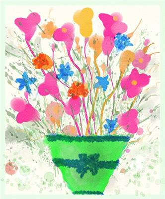 Flowers Of Spring Poster by Mary M Collins