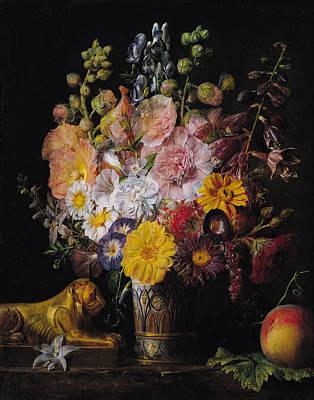 Flowers  Poster by Jean Francois Garneray