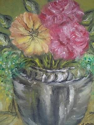 Poster featuring the painting Flowers by Teresa White