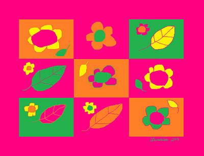Flowershop Window Larnaca 2 Poster by Anita Dale Livaditis