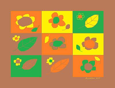 Flowershop Window Larnaca 3 Poster by Anita Dale Livaditis