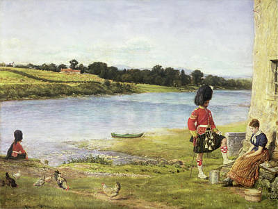 Flowing To The Sea, 1871 Poster by Sir John Everett Millais