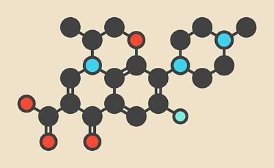 Floxacin Antibiotic Drug Molecule Poster by Molekuul