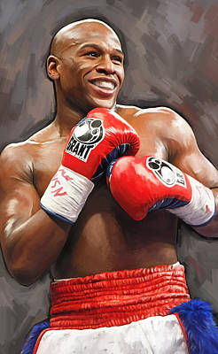 Poster featuring the painting Floyd Mayweather Artwork by Sheraz A