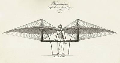 Flugmaschine  1807 Poster by Daniel Hagerman