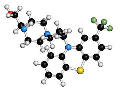 Fluphenazine Antipsychotic Drug Molecule Poster by Molekuul