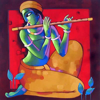Flute Poster by Sekhar Roy