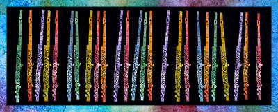 Flutes In Full Color Poster