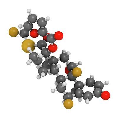 Fluticasone Furoate Corticosteroid Drug Poster by Molekuul