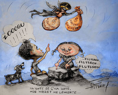 Fluturon...fluturon...fluturon..zogu Poster by Ylli Haruni