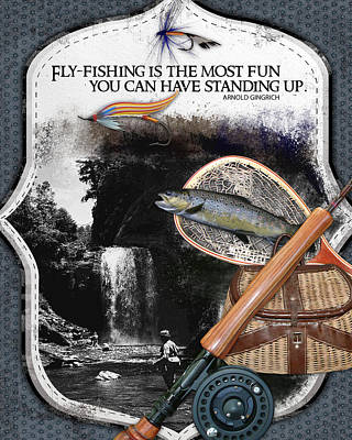 Fly Fishing Most Fun Poster by Retro Images Archive