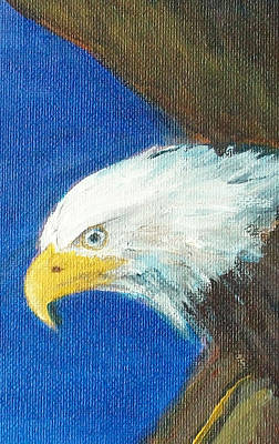 Poster featuring the painting Fly Like The Eagle by Jane  See