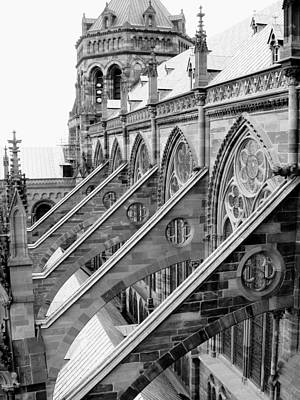 Flying Buttresses Bw Poster