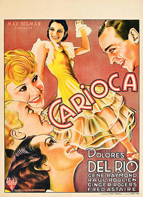 Flying Down To Rio, Aka Carioca, Left Poster by Everett