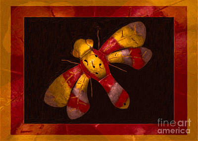 Flying Fantasies Of Light Abstract Painting Poster
