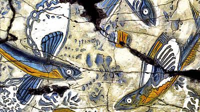 Flying Fish No. 3 - Study No. 2 Poster by Steve Bogdanoff