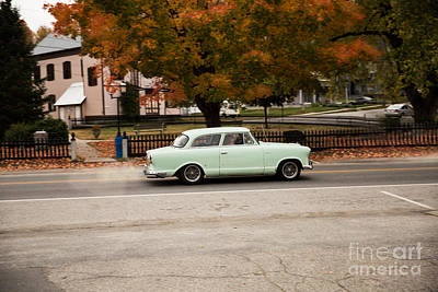 Flying Ford Anglia Poster by Brenda Giasson