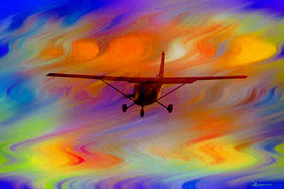 Flying Into A Rainbow Poster