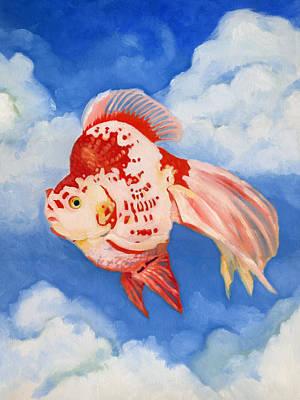 Flying Ryukin Poster by Katherine Miller