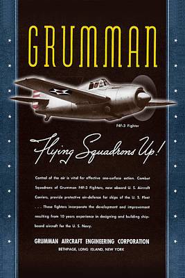 Grumman Flying Squadrons Up Poster