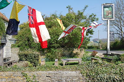 Poster featuring the photograph Flying The Flag For St George by Linda Prewer