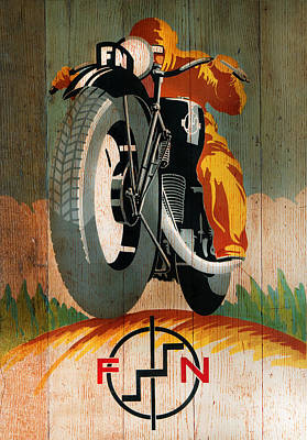 Fn Motorcycle 1925 Poster by Mark Rogan
