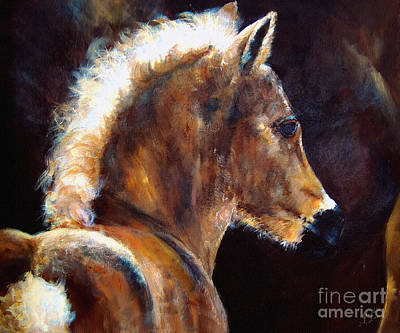 Foal Chestnut Filly Painting Poster by Ginette Callaway