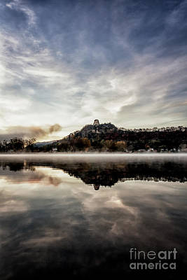 Poster featuring the photograph Fog At East Lake Winona by Kari Yearous
