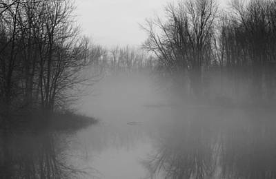 Poster featuring the photograph Fog At Mud Creek by Jim Vance