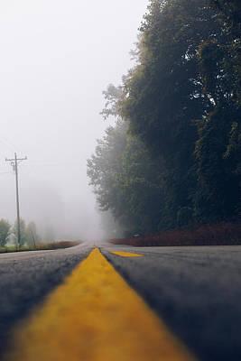 Fog On Highway Poster