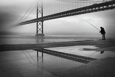 Fog On The Tagus River ! Poster