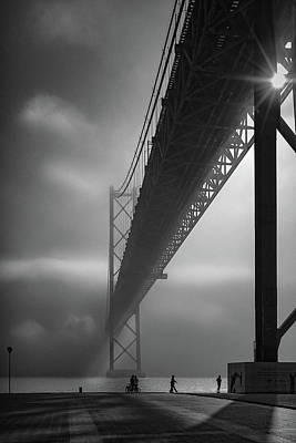 Fog On The Tejo River Poster