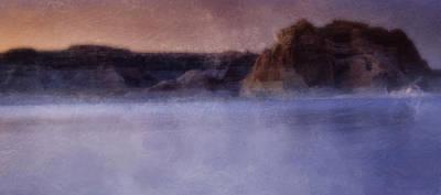 Fog Over Lake Powell Poster by Ellen Heaverlo