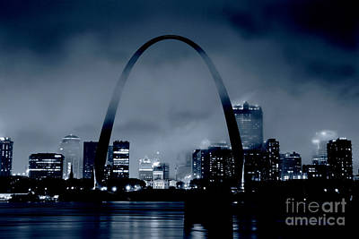 Fog Over St Louis Monochrome Poster