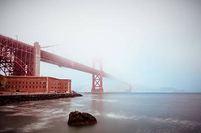 Poster featuring the photograph Foggy Bay by Brian Bonham