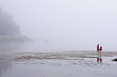 Foggy Beach Poster by Arkady Kunysz