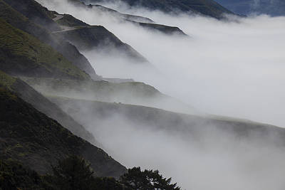 Foggy Coastal Hills Poster by Garry Gay