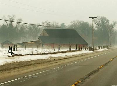 Foggy Country Farm In Twin Lakes  Poster