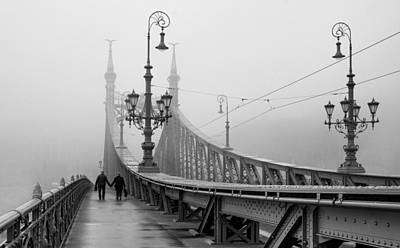 Foggy Day In Budapest Poster