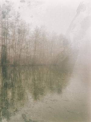 Poster featuring the photograph Foggy Day On The Border Of The Lake by Maciej Markiewicz