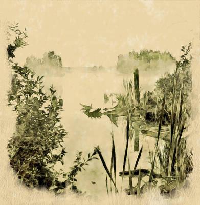 Foggy Lake Poster