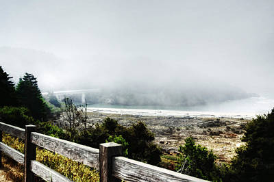 Foggy Mendocino Morning Poster