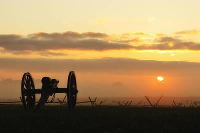 Foggy Morning Battlefield Poster