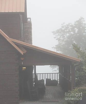 Foggy Morning Porch Poster by Kay Pickens